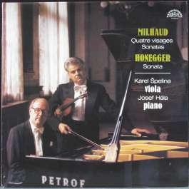 Quatre Visages Sonatas/Sonata Milhaud/Honegger