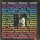 Eric Clapton's Rainbow Concert Clapton Eric