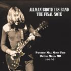 Final Note Allman Brothers Band