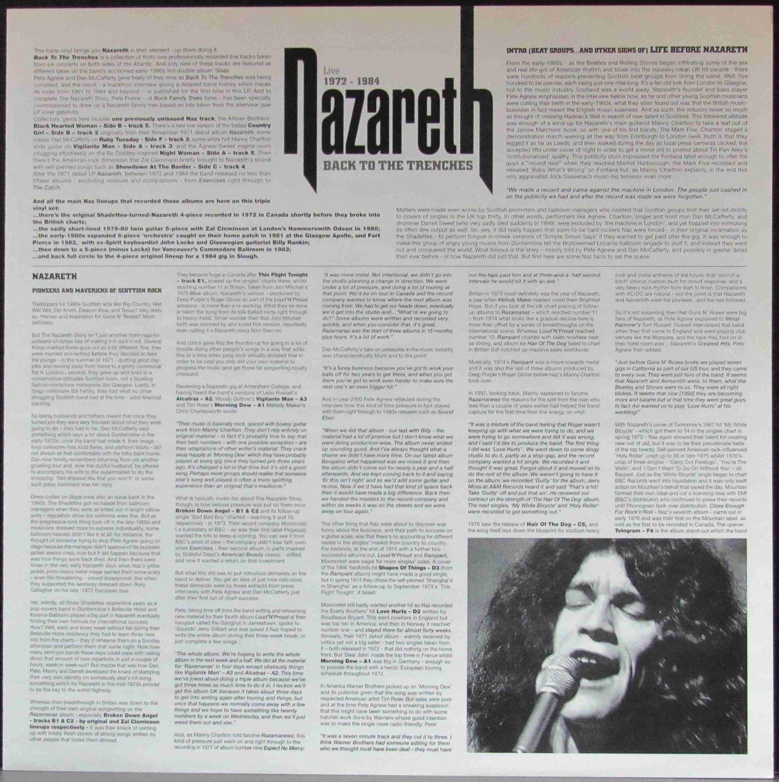 Купить lp Back To The Trenches Live 1972-1984 Nazareth | Интернет