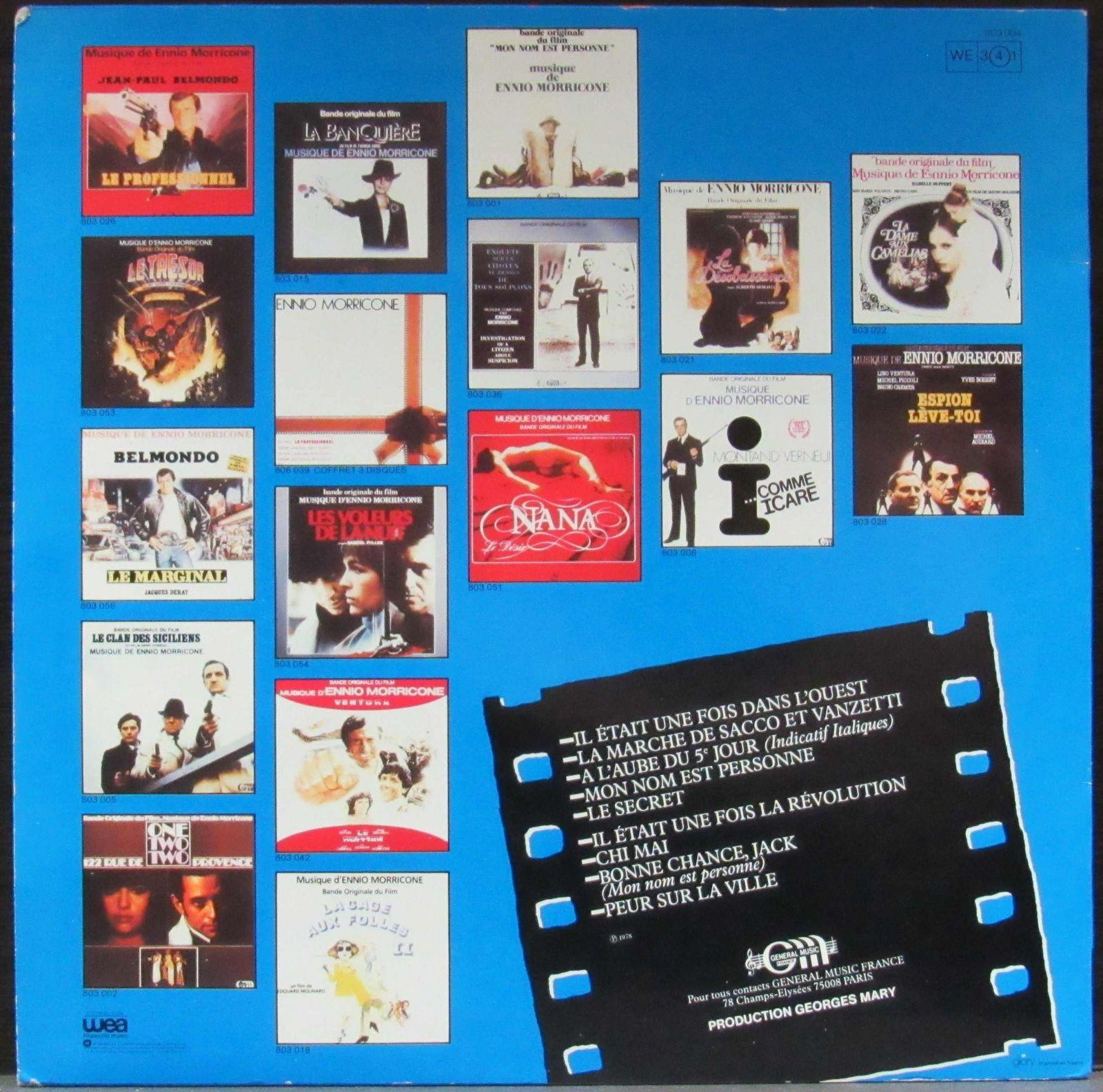купить Lp Les Plus Belles Musiques Dennio Morricone Vol1